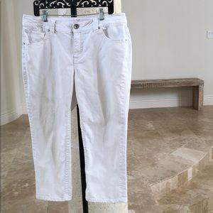 Ana A.n.a 16W wintery White denim capris pants